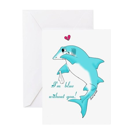 Miss You Shark Greeting Card