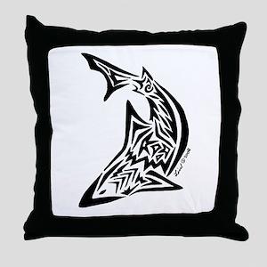 Tribal Shark Throw Pillow
