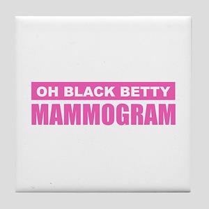 Black Betty Mammogram Tile Coaster