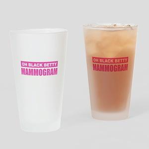 Black Betty Mammogram Drinking Glass