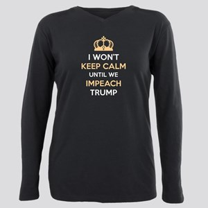 Impeach Trump Women's Dark T-Shirt