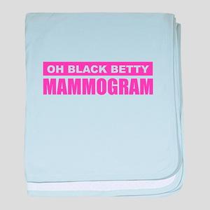 Black Betty Mammogram baby blanket