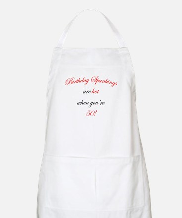 50th birthday spanking BBQ Apron