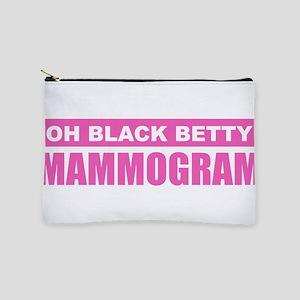 Black Betty Mammogram Makeup Bag