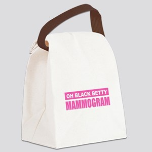 Black Betty Mammogram Canvas Lunch Bag