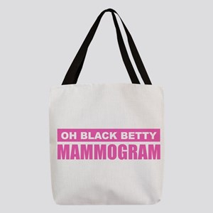 Black Betty Mammogram Polyester Tote Bag