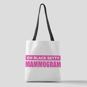 Black Betty Mammogram Polyester Tote Bag