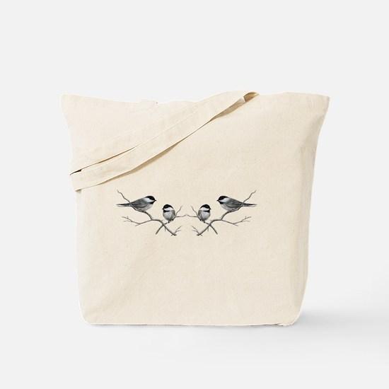 chickadee song bird Tote Bag