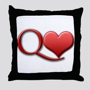 """Queen of Hearts"" Throw Pillow"