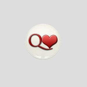 """""""Queen of Hearts"""" Mini Button"""