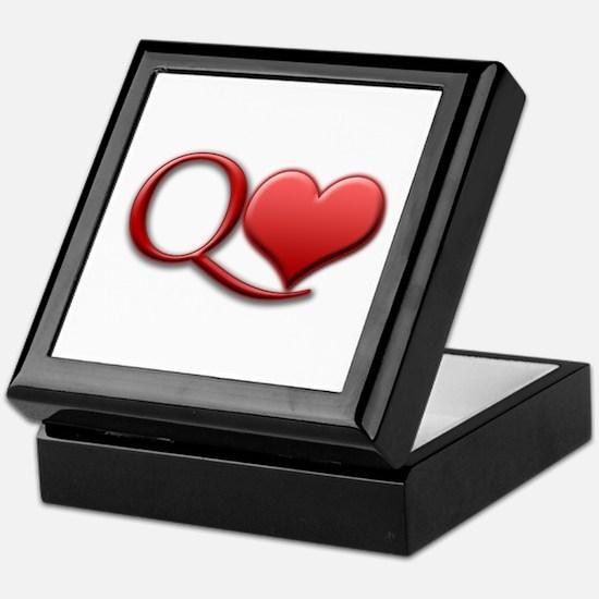 """Queen of Hearts"" Keepsake Box"