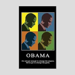 Limited Edition Obama Vinyl Rectangle Sticker