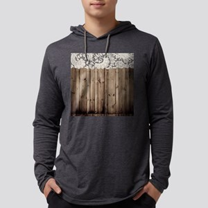 barnwood white lace country Long Sleeve T-Shirt