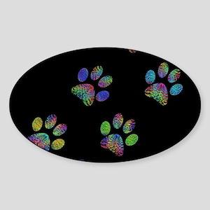 Fun paw prints. Sticker