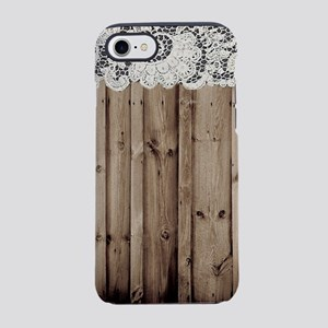 white lace barn wood iPhone 8/7 Tough Case