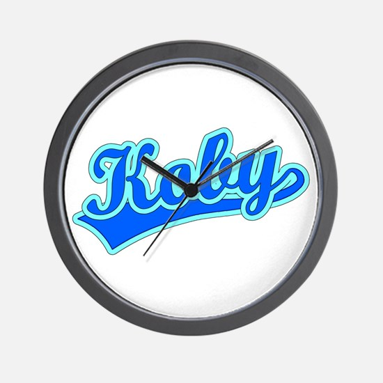 Retro Koby (Blue) Wall Clock