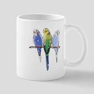 Glitter Budgie Mugs