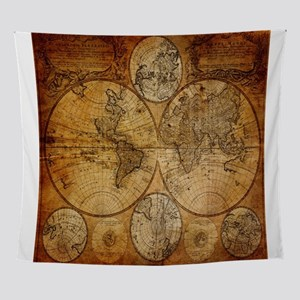 World map tapestries cafepress voyage compass vintage world map wall tapestry gumiabroncs Images