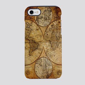 voyage compass vintage world iPhone 8/7 Tough Case