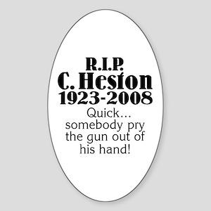 RIP Heston Oval Sticker