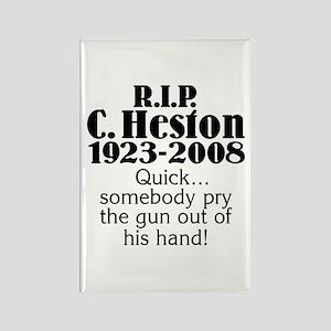 RIP Heston Rectangle Magnet