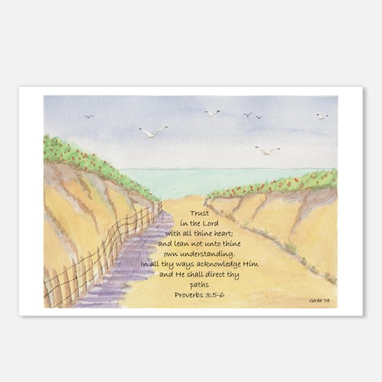 Path to the Ocean Bible Verse Proverbs 3:5-6