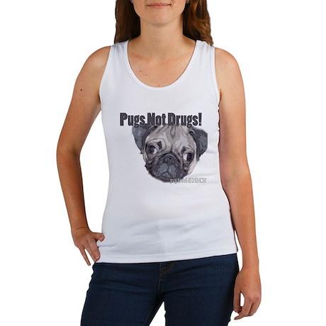 Pugs not Drugs Women's Tank Top