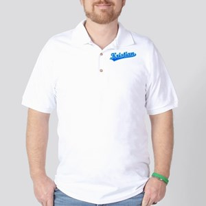 Retro Kristian (Blue) Golf Shirt