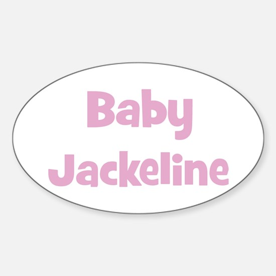 Baby Jackeline (pink) Oval Decal