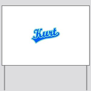 Retro Kurt (Blue) Yard Sign