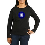Republic of China Women's Long Sleeve Dark T-Shirt