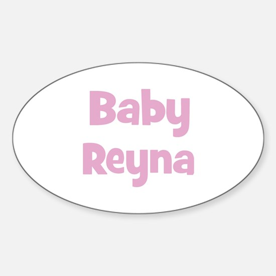 Baby Reyna (pink) Oval Decal