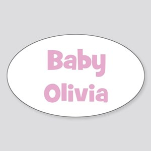 Baby Olivia (pink) Oval Sticker