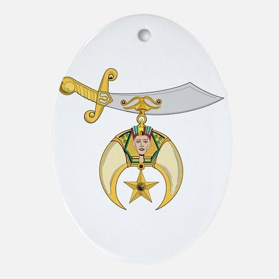 Shriner Oval Ornament