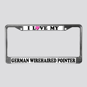 My German Wirehaired Pointer License Plate Frame