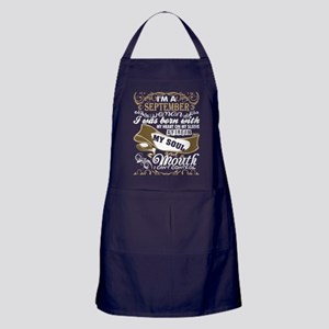 Im A September Woman I Was Born With Apron (dark)
