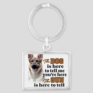 Beware of Dog/Gun - GSD Keychains