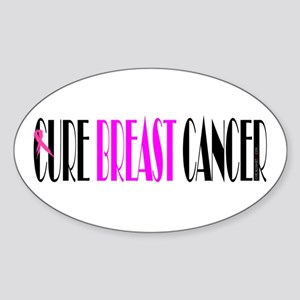 Cure Breast Cancer sticker Oval Sticker