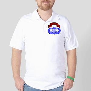 Airborne_Ranger_Scroll_Blk Golf Shirt
