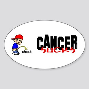 Cancer Sucks -- Sticker Oval Sticker