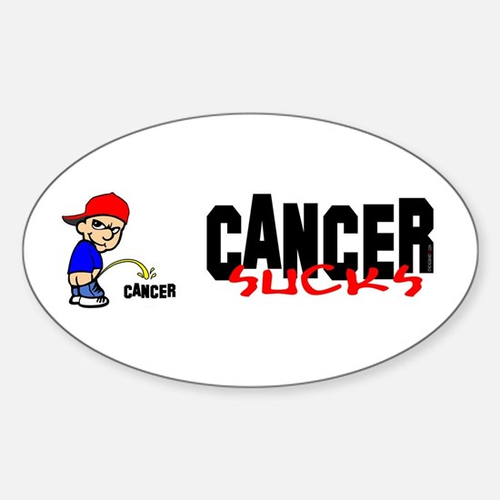 Cancer Sucks -- Decal Oval Decal