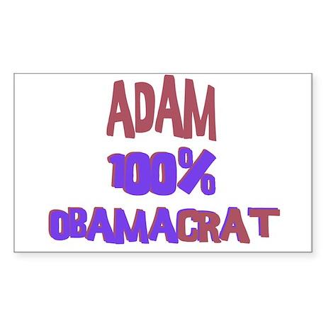 Adam - 100% Obamacrat Rectangle Sticker