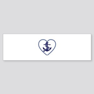 beach nautical ship anchor Bumper Sticker