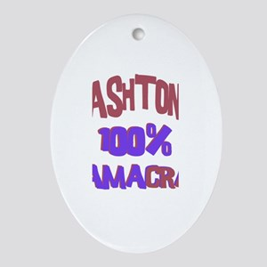 Ashton - 100% Obamacrat Oval Ornament
