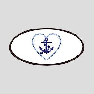 beach heart nautical anchor Patch