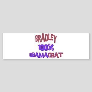 Bradley - 100% Obamacrat Bumper Sticker
