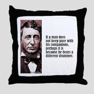 "Thoreau ""Different Drummer"" Throw Pillow"