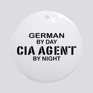Germany CIA Agent by Night Ornament (Round)