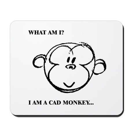 Cad Monkey 01 by bugawuga Mousepad