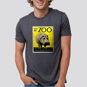 Antique 1936 Hippo Philadelphia Zoo Poster T-Shirt